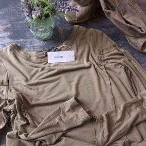 Bebe Reverse Seam Tee Dress